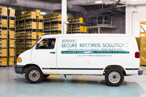 Secure Records Solutions Van