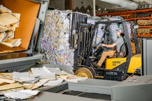 Shredded Material for recycle at Secure Records Solutions